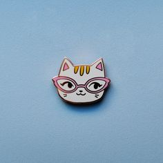 Broche émail - Cat