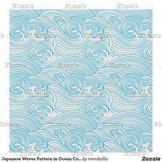 Japanese Waves Pattern in Ocean Colours