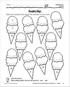 Ice Cream Cones: Adding to 18