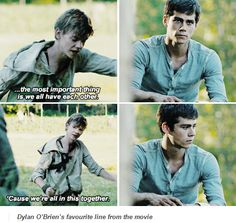 Dylan O'Brien's favourite line from The Maze Runner movie | Thomas and Newt