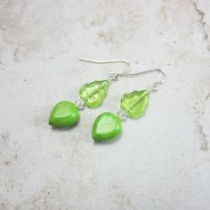 The perfect color earrings for summer outfits...lime green!! Pin now, shop later!!