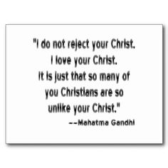 Gandhi about Christ