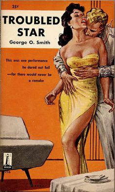 George O Smith - Troubled star / star pulp Arte Do Pulp Fiction, Pulp Fiction Book, Pulp Novel, Vintage Book Covers, Vintage Magazines, Archie Comics, Serpieri, Pulp Magazine, Robert Mcginnis