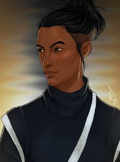 "ourinquisitorialness: "" "" I commissioned @cocotingo for this amazing portrait of the main character of the novel I'm writing. Although she uses the she/her pronouns, Seng Liau is bati zhien, a third gender legally acknowledged by the state government..."