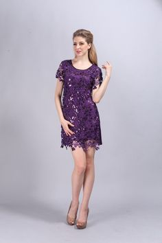 Free Shipping Fashion summer embroidery party dress vintage style hollowout sequined lace dress Alternative Measures