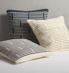 Woven Mohair Broken Stripe Pillow Cover | Rejuvenation