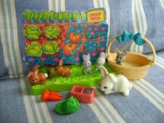 I had this exact little toy set!! in fact I still have one of the bunnies on my vanity in the bathroom!
