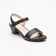 Sandalias de tacón, cuero negro Tacón: 5 cm