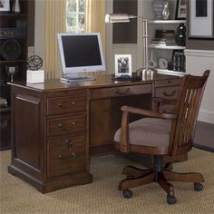 Cantata 54 Inch Flat Top Computer Desk | Shopping in Riverside Furniture Home Office