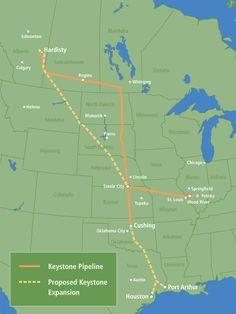 Keystone Pipeline Map, directly from TransCanada.