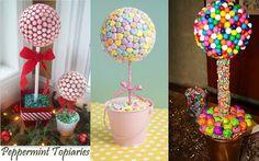 Fiestas con encanto: Brochetas, centros y tartas realizadas con chuches