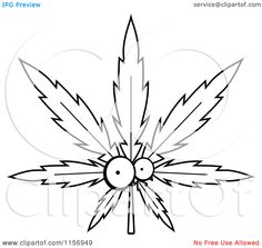 SERIOUSLY??????    LOL!!  marijuanna leaf  coloring sheets for kids | Pot Leaf Character - Vector Outlined Coloring Page by Cory Thoman