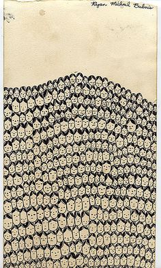 Heads Make a Mountain drawing by R Bubnis, via Flickr
