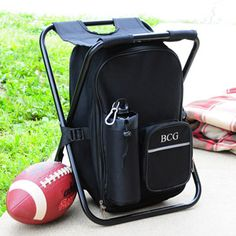 Personalized Tailgate Backpack Cooler Chair Groomsmen Gift This is our Number 1 Selling Groomsmen Gift. Tailgating And Traveling Have Never Been Easier Than With Our Tailgate Backpack Cooler Chair. Backpacking Chair, Camping Gear, Camping Outdoors, Beach Camping, Camping Hacks, Tailgating Gear, Camping Stuff, Camping Essentials, Campsite