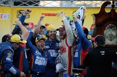 Dale gets his win of the season at Martinsville Nascar Martinsville, Jeff Gordon Nascar, Big Crush, Dale Earnhardt Jr, Father And Son, My Dad, Racing, Guys, Celebrities