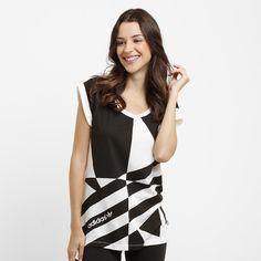 Camiseta Adidas Fashion Graphic Branco e Preto   Netshoes