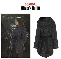 """On the Blog: Olivia Pope's (Kerry Washington) gray draped neck wrap coat   Scandal (Ep. 416) - """"It's Good to be Kink"""" #tvstyle #tvfashion #outfits #TGIT #gladiators #fashion Olivia Pope Wardrobe, Olivia Pope Style, Scandal Fashion, Fashion Tv, Fall Outfits, Cute Outfits, Work Outfits, Vivienne Westwood Anglomania, Wrap Coat"""