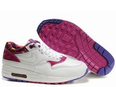 online store d9bfd 50039 Buy Womens White White Pure Purple Rv Pink Nike Air Max 1 The Most  Lightweight Shoes