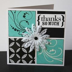 simple card. love the colors and the square shape.