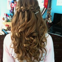 Would be cute ceremony hair and then put up for reception