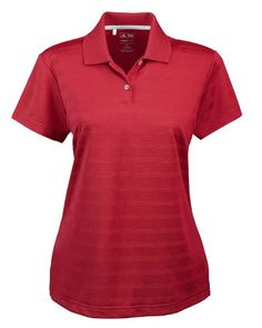 adidas Performance adidas A162 Ladies ClimaLite Textured Polo - University Red44