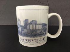 Starbucks Mug 2007 Architecture Series Nashville TN City 18 oz Coffee Tea Cup  #Starbucks
