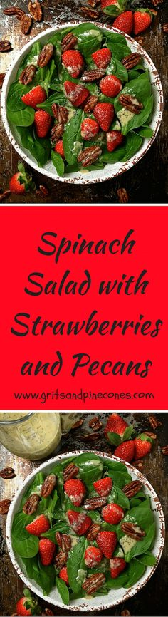 This healthy, quick, and easy, salad with poppy seed dressing is loaded with Vitamins A & C. One serving with dressing is only 289 calories. via @http://www.pinterest.com/gritspinecones/
