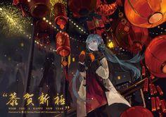 hatsune miku Part 72 - - Anime Image Hatsune Miku, New Year Wallpaper Hd, Manga Art, Anime Art, Anime Neko, New Year Anime, Blush Wallpaper, Android Wallpaper Anime, Rain Wallpapers