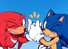 Sonic & Knuckles, Sonic Fan Art, Cute Anime Chibi, Star Party, Cute Love, Sonic The Hedgehog, Art Drawings, Amy Rose, Animation