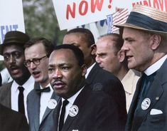 Dr. Martin Luther King, Jr, during the Civil Rights March on Washington, D.C., 1963.