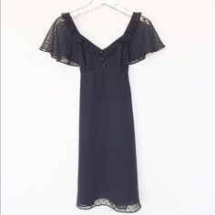 """Alice Temperley Swiss Dot Chiffon Dress Adorable LBD is light weight, cap sleeves and tie back. Worn once, in perfect condition. 100% Polyester Length 36"""" Alice Temperley for Target Dresses"""