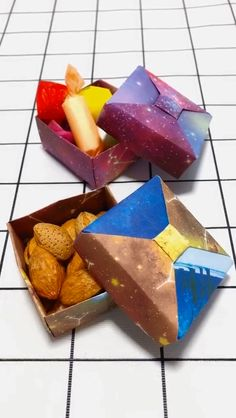 DIY handmade origami crafts gift box - Diy Home Crafts Origami Design, Instruções Origami, Origami Gift Box, Origami Ball, Diy Gift Box, Origami Videos, Diy Box, Origami Box With Lid, Origami Box Tutorial