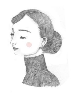 Audrey by Clare Owen Illustration, via Flickr