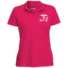 PRN-028: Medical Laboratory Scientist Caduceus Sport-Tek Women's Micropique Tag-Free Flat-Knit Collar Polo-FREE PERSONALIZATION TODAY