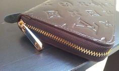 Louis Vuitton Monogram Vernis Zippy Organizer M93610.close shoot. $135+FREE shipping+on-line payment