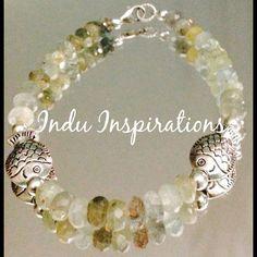 Water bracelet aquamarine, Pisces sterling silver bracelet on Etsy, $60.00