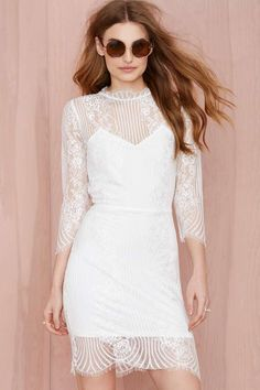 For Love and Lemons Rosette Lace Dress | Shop What's New at Nasty Gal