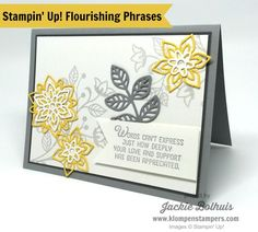 HOVER & PIN if you like this card, make sure to HOVER over the picture & PIN to your Pinterest Board for future reference! Welcome back for another fun (AND EASY) card using the FLOURISHING PHRASES stamp set & FLOURISH THINLITS These 2 items can be purchased together in a bundle and you can SAVE …