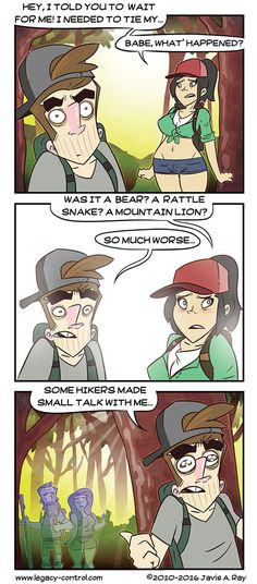 The dangers of hiking in the forrest.