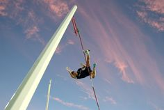 Franck Fife / AFP - Getty Images France's Renaud Lavillenie competes in the men's pole vault final.