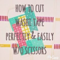 MsWenduhh Planners & Printables: How to Cut Washi Tape Perfectly & Easily Without Scissors!
