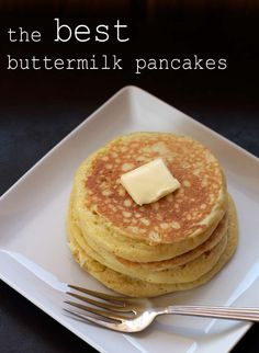 A Less Processed Life: What's For Breakfast: The Best Buttermilk Pancakes