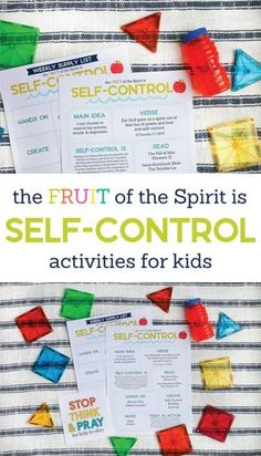 The Fruit of the Spirit is SELF-CONTROL Kids Activities Looking for ways to point your kids to Jesus? The Fruit of the Spirit is SELF-CONTROL Kids Activities pack is full of simple ideas to. Bible Lessons For Kids, Bible For Kids, Sunday School Lessons, Sunday School Crafts, Christian Kids, Christian Classroom, Christian Homeschool, Christian Parenting, Christian Living
