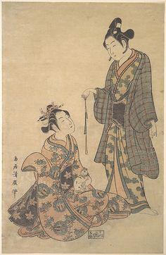Torii Kiyohiro (Japanese, active ca. 1737–1766). Woman Seated Holding a Cat, ca. 1755. Edo period (1615–1868). Japan. The Metropolitan Museum of Art, New York #art #asia #asian #eastasia