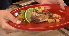 Grilled mahi mahi with pineapple salsa | #sustainable #seafood #recipe