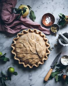 I made an apple+pear pie with a hazelnut crust can't wait to taste it!