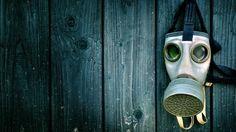 Green blue wood gas masks (2150x1209, blue, wood, gas, masks)  via www.allwallpaper.in