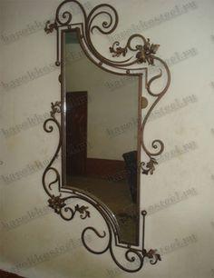 Iron Furniture, Art Deco Furniture, Steel Furniture, Wrought Iron Decor, Iron Candle Holder, Iron Steel, Beautiful Interior Design, Metal Mirror, Iron Art