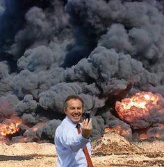 Peter Kennard, Blair in Iraq, 2006. #blair #iraq