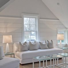 option #2 - paneled walls / flat ceiling